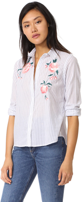 RAILS Nevin Embroidered Button Down $178 thestylecure.com