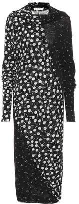 Jil Sander Floral-printed midi dress