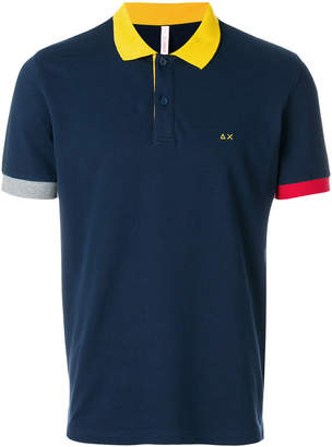 Sun 68 tricolour polo shirt