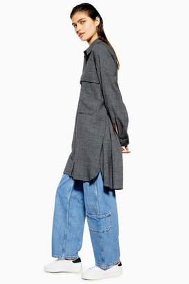 Topshop **Wool Blend Oversized Shirt Dress by Boutique