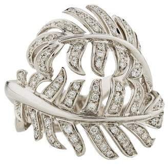 Chanel 18K Diamond Plume Ring