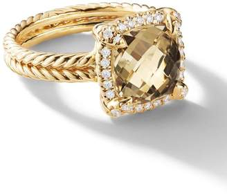 David Yurman 18kt yellow gold Châtelaine citrine and diamond ring