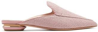 Nicholas Kirkwood Beya woven backless loafers