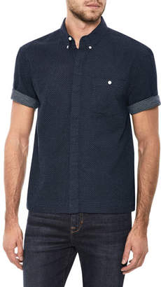 Joe's Jeans Men's Harvey League Short-Sleeve Denim Shirt