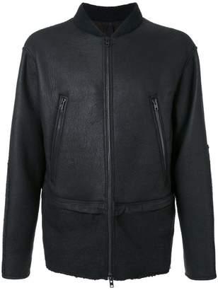 Isabel Benenato leather bomber jacket