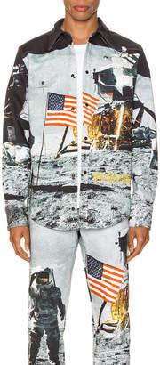 Calvin Klein Est. 1978 Moon Landings Western Shirt Jacket in Moon Flag | FWRD