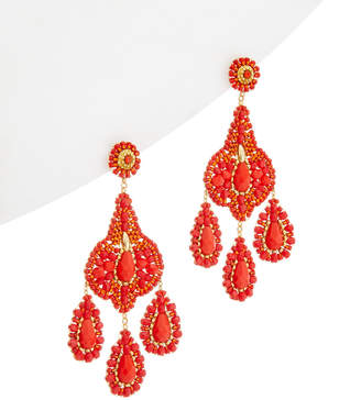 Miguel Ases 18K Plated Crystal Drop Earrings