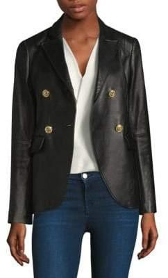 L'Agence Patton Leather Blazer