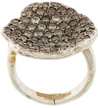 Rosa Maria pave diamond ring