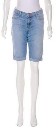 J Brand Mid-Rise Knee-Length Shorts