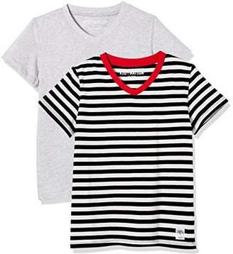 Kid Nation Kids' 2-Pack Short-Sleeve V-Neck Cotton Jersey Tee for Boys Or Girls S