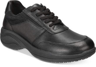Easy Street Shoes Easy Works By Women's Middy Lace-Up Slip Resistant Sneakers