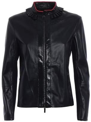 Giorgio Armani (ジョルジョ アルマーニ) - Giorgio Armani Snakeskin Detail Leather Jacket