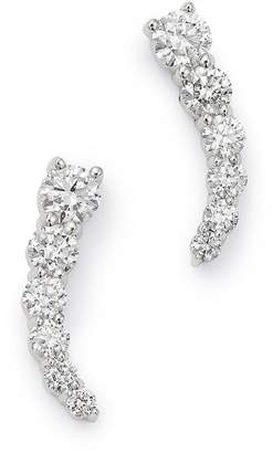 Bloomingdale's Graduated Diamond Climber Earrings in 14K White Gold, 0.85 ct. t.w. - 100% Exclusive