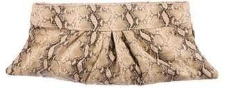 Lauren Merkin Animal Print Leather Clutch