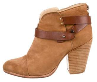 Rag & Bone Suede Round-Toe Boots Brown Suede Round-Toe Boots