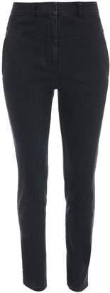 Tibi Black Denim Jamie Flat Front Pants