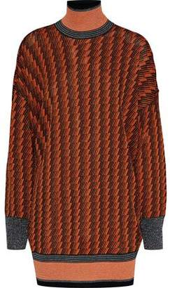 By Malene Birger Metallic Jacquard-Knit Turtleneck Sweater