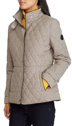 Lauren Ralph Lauren Houndstooth Quilted Military Jacket
