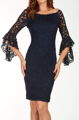 Frank Lyman Navy Lace Dress