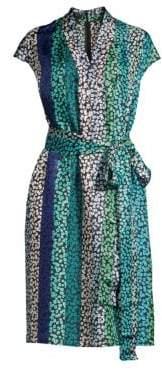 Escada Women's Delita Daisy Striped Dress - Medium Blue - Size 36 (6)
