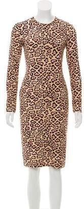 Givenchy 2016 Animal Print Knee-Length Dress