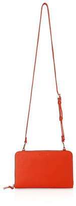 Whistles Union Double Zip Leather Crossbody $210 thestylecure.com