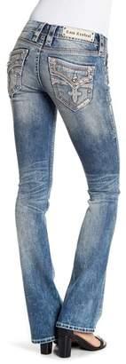 Rock Revival Crystal Embellished Boot Cut Jeans