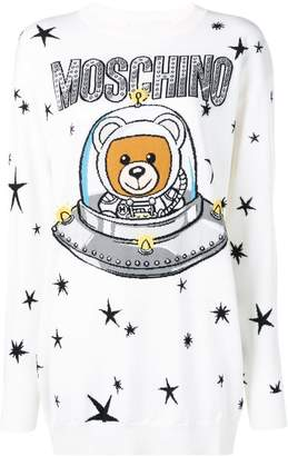 Moschino teddy bear knitted dress