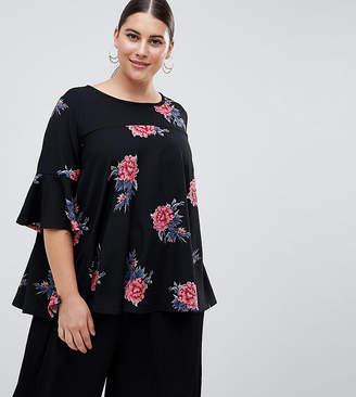 AX Paris Plus floral swing top