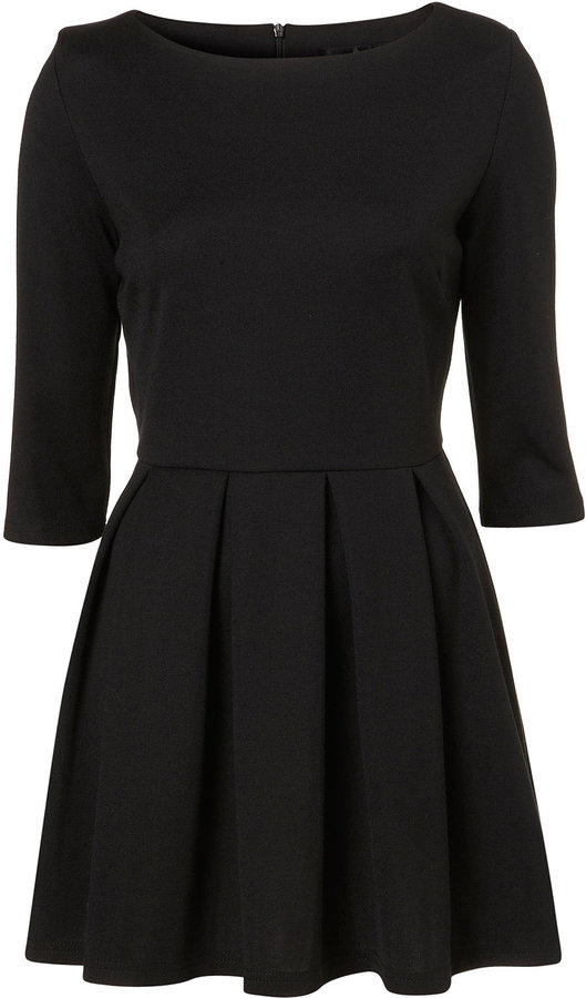 Petite Structured Skater Dress