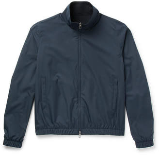 Loro Piana Reversible Storm System Nylon and Cashmere Bomber Jacket - Navy