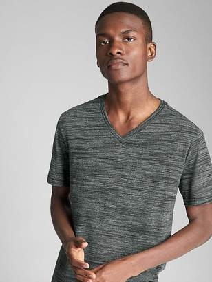 Gap Essential Short Sleeve V-Neck T-Shirt in Spacedye