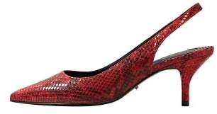 Violeta BY MANGO Snakeskin print heeled shoes
