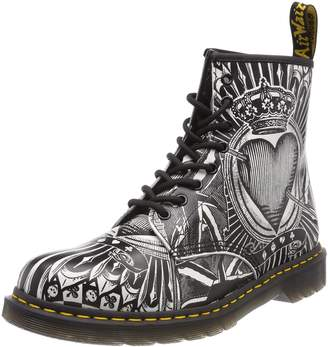 Dr. Martens Black / Playing Card Backhand 1460 Boots-UK 4
