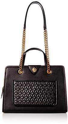 Anne Klein Lion Ring Large Quilted Pocket Chain Tote