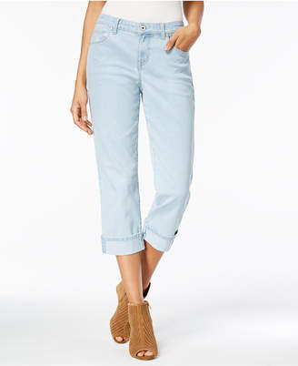 Style&Co. Style & Co Petite Cuffed Curvy Capri Jeans, Created for Macy's