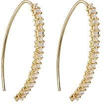 Ileana Makri Women's Baguette Eye Hoop Earrings