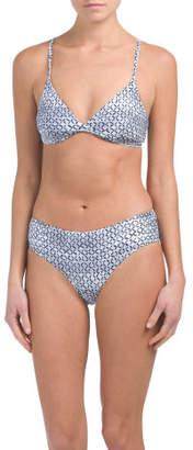 2pc Crossover Triangle Bikini Set