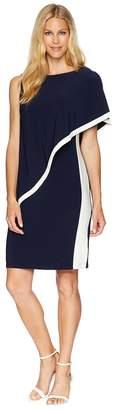 Lauren Ralph Lauren 1T Matte Jersey Timna Two-Tone Sleeveless Day Dress Women's Dress