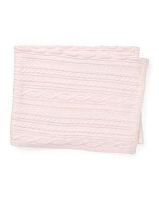 Ralph Lauren Cable-Knit Baby Blanket, Pink