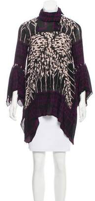 Anna Sui Printed Silk & Wool Tunic