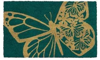 Butterfly Non-Slip Coir Doormat