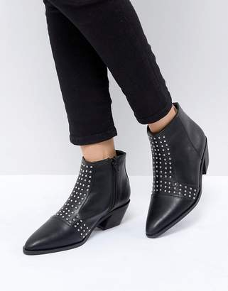 St Sana Studded Angular Heel Boot