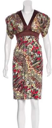 Just Cavalli Printed Metallic Dress