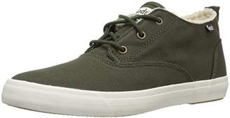 Keds Triumph MID Canvas with Faux Shearling Women's 5 - Green