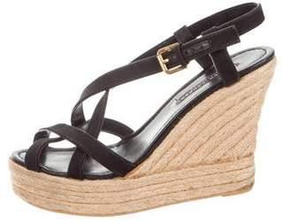 Ralph Lauren Canvas Platform Espadrille Wedge Sandals