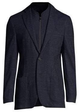Corneliani Two-Button Plaid Blazer