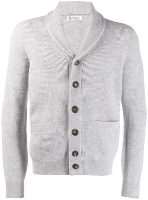 Brunello Cucinelli button ribbed knit cardigan