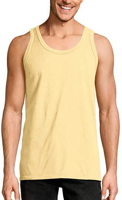 Hanes Mens Crew Neck Sleeveless Cooling Tank Top